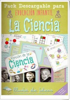 """El pack descargable """"La Ciencia"""", de Maite Gan, es un extraordinario conjunto de imágenes sobre objetos, actividades, personajes y experimentos relacionados con la ciencia para el trabajo en Educación Infantil."""