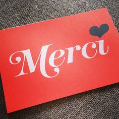 For Corinne, Richard, Lionel & Ralp. #MerciBeaucoup #ThankYou #travel #Sorgues #France #FR #type #typography #graphicdesign
