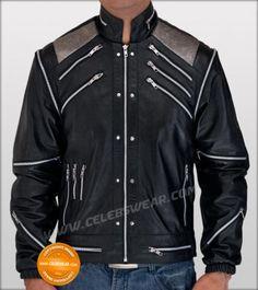 $189.00 - Michael Jackson Leather Black Beat It Jacket