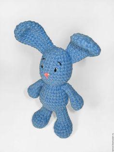 Вязаная крючком игрушка Голубой заяц. Handmade. crochet toys