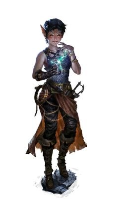 Young Female Elf Magus - Pathfinder PFRPG DND D&D d20 fantasy