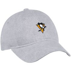Women s Pittsburgh Penguins adidas Gray Heather Slouch Adjustable Hat 3338193d6