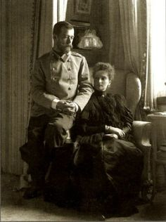 Tsar Nicholas II and Tsarina Alexandra. Alexandra was pregnant, she was expecting Maria.