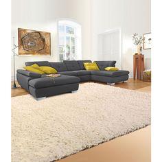 WOHNLANDSCHAFT in Schwarz Textil - Polstermöbel - Polstermöbel, Sofas & Sessel - Wohn- & Esszimmer - Produkte