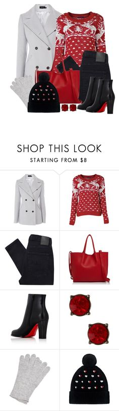 """""""Untitled #1586"""" by gallant81 on Polyvore featuring Karen Millen, Nobody Denim, Street Level, Christian Louboutin, Nordstrom Rack, NOLA and Markus Lupfer"""