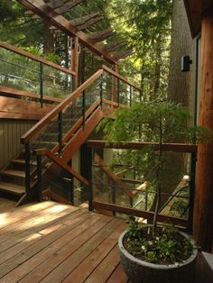 architecture - Roof Terrace Design For Your Lovely Home Concrete Staircase, Wooden Stairs, Rustic Stairs, Metal Stairs, Terrasse Design, Exterior Stairs, Outdoor Spaces, Outdoor Decor, Rustic Outdoor