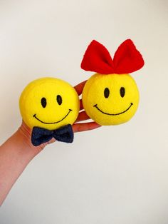 Small toy Smiley Smiley face round yellow smile by PillowsRollanda, $20.00 #smalltoy #childrenssofttoys #humoroustoy