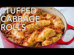 These stuffed cabbage rolls are the best I've tried! Cabbage rolls (golubtsi) are made with simple, inexpensive ingredients but are super delicious (and a freezer friendly meal!) My family loves these with sour cream and soft French bread. Cabbage Recipes, Beef Recipes, Cooking Recipes, Healthy Recipes, Pastry Recipes, Fall Recipes, Chicken Recipes, Ukrainian Recipes, Russian Recipes