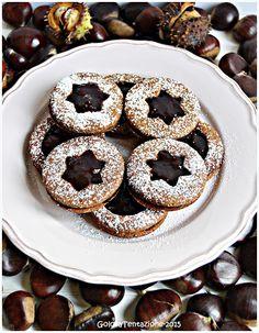 GOLOSA TENTAZIONE...: Biscotti con farina di castagne e confettura di ci...