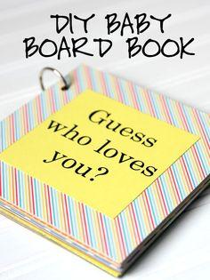 DIY Baby Board Book #EveryoneSleeps #ad