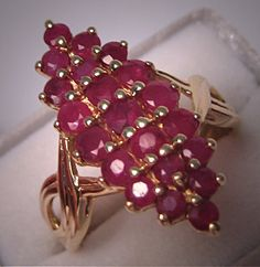 Vintage Moghul Style Ruby Ring Estate Fine Gold Jewelry.