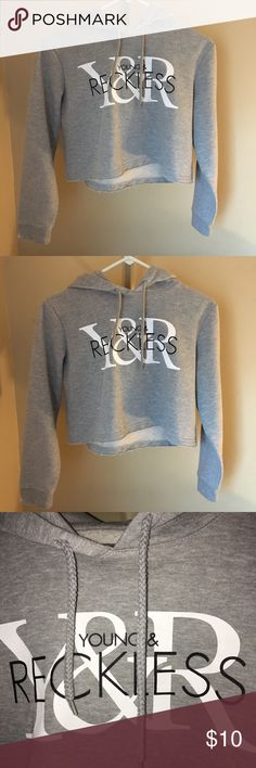 Cropped Hoodie Light gray color, in perfect condition& cropped. Can ship within 2 days. Have past experience with posh(: i made a new account to start fresh. Thank you for checking out my page! 😊 PacSun Tops Sweatshirts & Hoodies