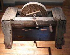 SUPER Primitive Antique Stone Grinding Wheel Knife Axe Ax Sharpener Grinder