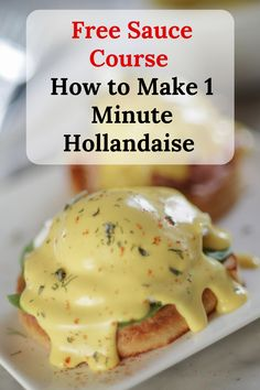 Classic Hollandaise Sauce in 1 Minute - Lakeside Table - - This fool proof method makes a rich creamy buttery classic Hollandaise sauce in 1 minute after you melt the butter. Use it on eggs Benedict, salmon, or your favorite veggies! Sauce Recipes, Cooking Recipes, Cooking Ideas, Keto Recipes, Recipe For Hollandaise Sauce, Poached Eggs, Stick Of Butter, Breakfast Recipes, Breakfast Ideas