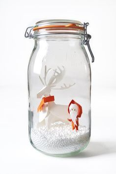 Now if I can only learn how to fold this bad boy. So cute and clever! Modern snow globe DIY