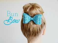 Oversized Glitter Bow Hair Clip, Blue Large Glitter Bun Bow, Big Bun Bow Hairclip, Frozen Hair Accessory, Extra Large Glitter Hairbow Clip  Lovely