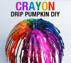 Crayon Drip Pumpkin!