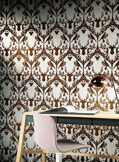 Flora Und Fauna: Hirsch Tapete Fauna Von Hookedonwalls #wohnzimmer #küche  #wald