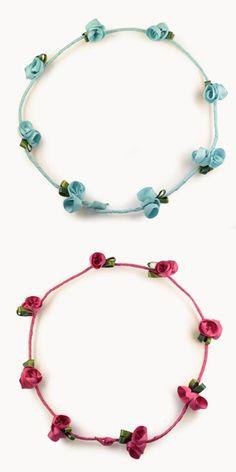 Esta temporada las coronas florales están de moda. Deja que tus princesas luzcan éstas hechas de tafeta. http://cuini.com/es/e-shop #niños #complementos