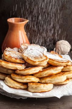 These fluffy kefir pancakes are smaller than you typical pancake with a tender crumb and a delicious crispy outside. Healthy breakfast full of probiotics!