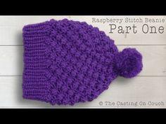 RASPBERRY STITCH BEANIE  How To Knit A Hat - YouTube