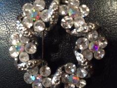 Vintage Rhinestones and Auroraborelis Brooch/Vintage Costume Jewelry / Mid Century Flower Rhinestones and AB Brooch by VintageVixens1 on Etsy