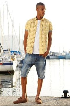 Buy Yellow Print Shirt from the Next UK online shop