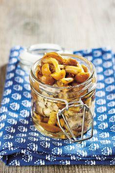 Chiodini e #funghi di muschio sott'olio #ricetta #conserve