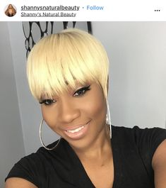 Thinking of Going Blonde? Here's What It Looks Like On 15 Black Women Short Quick Weave Styles, Short Quick Weave Hairstyles, 27 Piece Hairstyles, Wig Hairstyles, Black Hairstyles, Natural Hairstyles, Blonde Weave Hairstyles, Wedding Hairstyles, Gorgeous Hairstyles