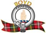 """House of Boyd Tartan the Crest """"A dexter hand erect and pale having the outer fingers bowed inwards"""". House of Boyd Motto is """"Confido"""", translated as """"I Trust"""". MacRory Mor"""