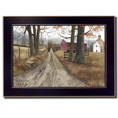"""Trendy Decor 4U The Road Home by Billy Jacobs Framed Painting Print Size: 10"""" H x 12"""" W x 2"""" D"""