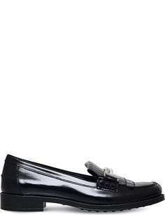 TODS Gomma leather fringe loafers