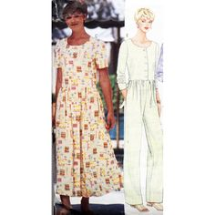 Butterick Sewing Pattern 4820 Misses' Dress, Jumpsuit Petite Size: XS-S-M Used