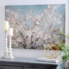 Blooming Branches Canvas Art Print | Kirklands
