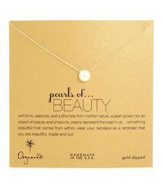 Dogeared Pearls of Beauty White Pearl Necklace, Gold Dipped 18 inch – Blue Daisy
