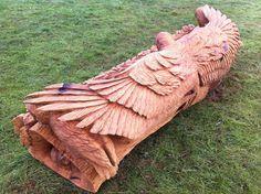 Oak Owl Bench
