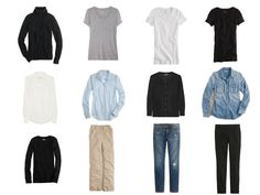 This was the original Common Wardrobe - garments  I saw day after day on my co-workers from international advertising agencies. These garments and accent items were combined in all sorts of different ways, and accessorized like mad