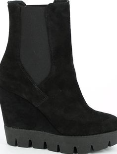 High Suede Wedge