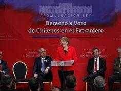 Bachelet promulga ley que regula el derecho a voto de los chilenos en el extranjero - Publimetro Chile