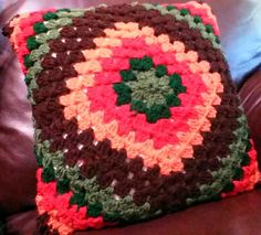 This Crochet pillow is used to decorate chairs and beds. It's beautiful pattern will be an eye catcher and a talking point for you visitors. by Croroyal on Etsy