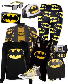"""batman"" by deniserclark ❤ liked on Polyvore"