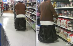 Funny Pictures Of People At Walmart   He is wearing… a trash bag… as a skirt. I can't even fathom a ...