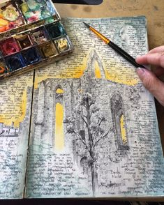 Artist's sketchbooks will inspire you to start a travel journal. Dina Brodsky.