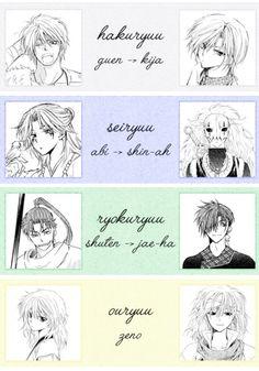 Akatsuki no Yona / Yona of the Dawn anime and manga || Original Dragons to Modern Dragons