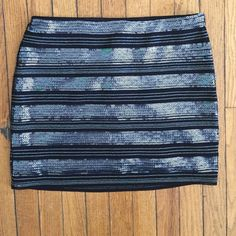 Express NWT sequined skirt Sequined stripped skirt . NWT Express Skirts