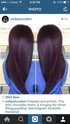 Black cherry hair color