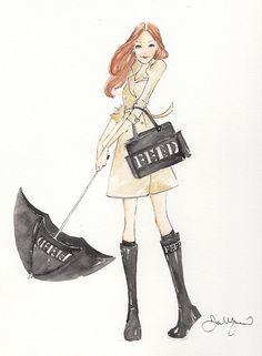 DKNY PR Girl's adorable avatar.