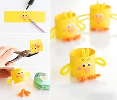 Easter İdeas 542683823848259736 - These paper roll chicks are such an adorable Easter craft idea and they are super simple to make! They're an adorable decoration for the Easter table and a fun, low mess craft to make with the kids. Source by henrihermann Easter Arts And Crafts, Easter Projects, Easter Crafts For Kids, Spring Crafts, Diy For Kids, Easter Ideas, Toilet Paper Roll Crafts, Paper Crafts, Chicken Crafts