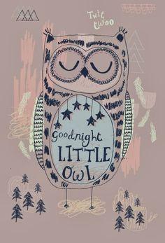 Ma Bicyclette - Rosie Harbottle - Goodnight Little Owl Art And Illustration, Illustrator, Owl Always Love You, Owl Art, Cute Owl, Art Plastique, Good Night, Print Patterns, Art Prints
