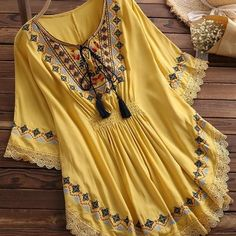 Large Size Summer Women's Retro Long Raglan Sleeves Round Neck Cotton Embroidered Cloak Top Large Size Summer Women's Retro Long Raglan Sleeves Round Neck Cotton Embroidered Cloak Top Stylish Dresses For Girls, Stylish Dress Designs, Casual Dresses, Kurta Designs Women, Blouse Designs, Frock Fashion, Fashion Dresses, Fashion Pants, Fashion Tips